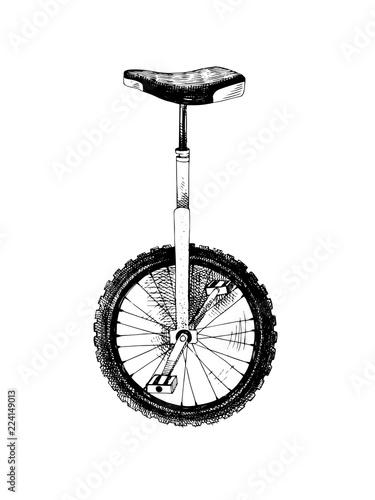 La pose en embrasure Velo Hand drawn monocycle