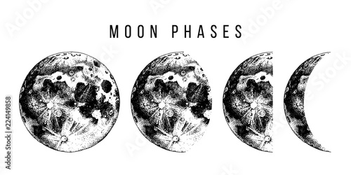 Photographie  moon phases illustration