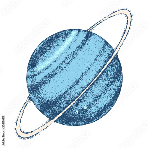 Fotografie, Obraz  Hand drawn Uranus planet