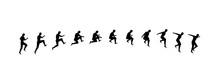 Man Running And Jumping Sequen...