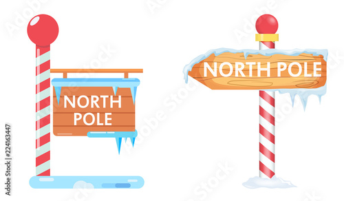 Canvas Print North pole sign