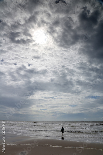 Foto op Aluminium Noordzee KInd an der Nordsee in Holland