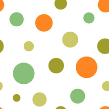 Polka Dot Seamless Pattern, Ve...