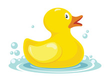 Rubber Yellow Duck. Bath Child...