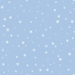 Blue winter background with snowflakes. Vector winter holiday backdrop.