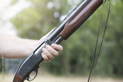Boy With Shotgun While Dove Hunting