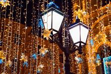 Street Lights And Christmas De...