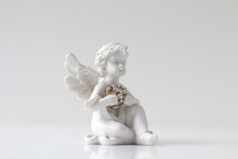 Guardian Angel Over White Back...