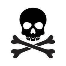 Pirate Skull Vector Halloween Icon Logo Bone Ghost Skeleton Illustration Clip Art Graphic