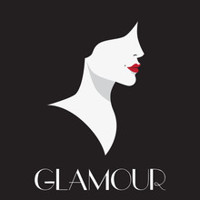 Glamour, Beautiful Woman Vector Art.