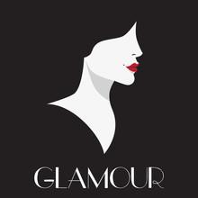 Glamour, Beautiful Woman Vector Art.