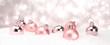 canvas print picture - Weihnachtsschmuck im Bannerformat - Frohe Weihnachten