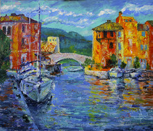 Art Painting Of Port Grimaud  ...