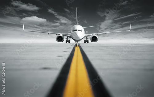 Türaufkleber Flugzeug straight ahead