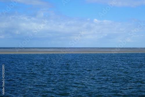 Foto op Canvas Noordzee Sandbank in der Nordsee in der Deutschen Bucht nahe der Wesermündung