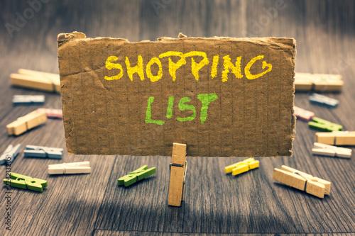 Fotografie, Obraz  Writing note showing Shopping List