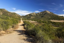 Iron Mountain Hiking Trail In Poway, San Diego County East Inland, California USA