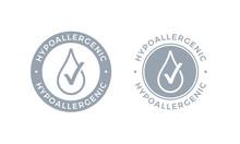 Hypoallergenic Tested Logo Icon Vector Drop