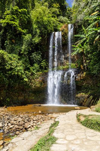 Foto op Plexiglas Watervallen Waterfall in forest in Dam Bri, Vietnam