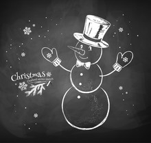 Snowman Character Wearing Cyli...