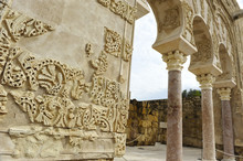 Palace Of Medina Azahara, Arab City Founded In The Year 936 By Abderramán III About 8 Km From Córdoba. World Heritage By Unesco. Andalusia, Spain