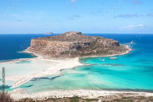 Fotografie, Obraz Balos bay and Gramvousa island, Crete, Greece