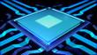 Futuristischer CPU Kern   Science Fiction