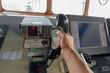 Navigational control panel and vhf radio