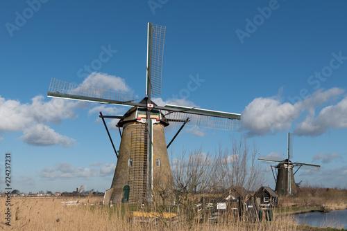 Tuinposter Molens Nederwaard Windmill no.8 Kinderdijk