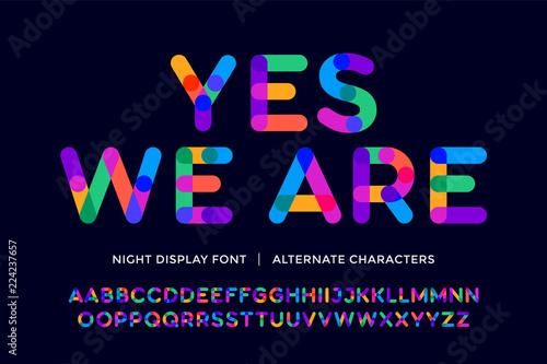 Fotografía Colorful font