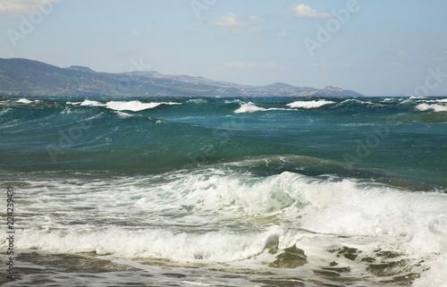 Papiers peints Bleu vert Mediterranean sea in Isola Rossa village. Sardinia. Italy