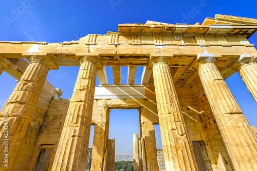 Fotografie, Obraz  Propylaea Ancient Entrance Gateway Ruins Acropolis Athens Greece