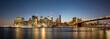 Manhattan Panorama bei Sonnenuntergang.