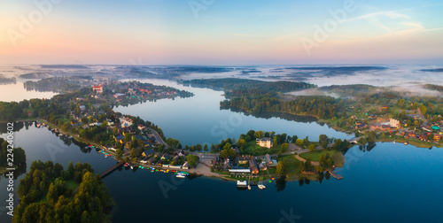 Tuinposter Luchtfoto Lakes view from above