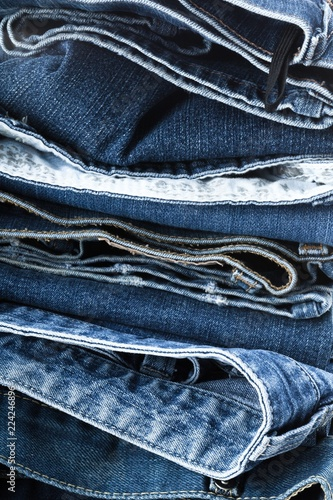 Fotografia  Stack of Jeans