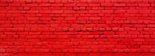 Old Painted Red Brick Wall Texture Background