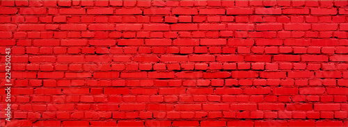 Photo sur Toile Brick wall Old Painted Red brick wall Texture Background