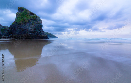 Foto op Canvas Kust The Bedruthan Steps rock formation near Newquay, Cornwall, UK