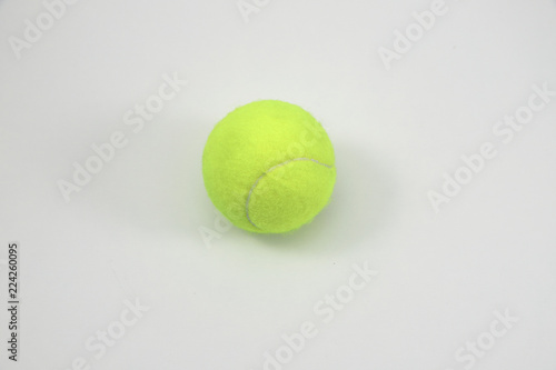 Fotografia, Obraz  Tennis ball in white background