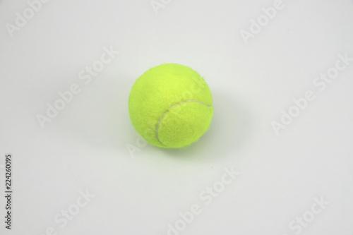 Valokuva  Tennis ball in white background