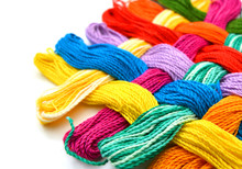 Colorful Thread On White Backg...