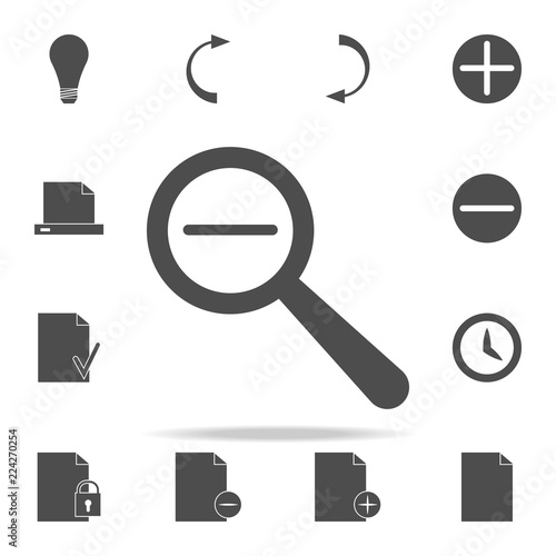 Fotografía  magnifier minus icon. web icons universal set for web and mobile