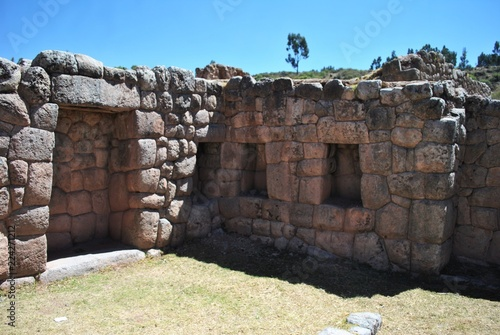 Foto op Canvas Rudnes ruins above cusco