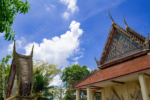 Tuinposter Bedehuis タイの寺院