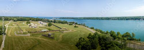 Obraz na plátne Fort George Niagara Canada aerial view