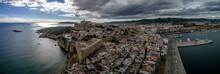 Aerial Panorama Of Ibiza Town ...