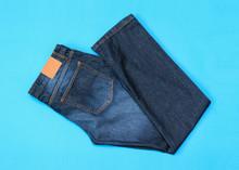 Folded In Half Men's Blue Jean...