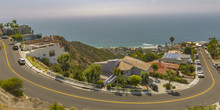 Houses And Road On A Hill At Laguna Beach CA