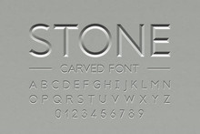 Stone Carved Font, Alphabet Le...