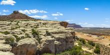 Wondrous Canyon And Cliff Formation At Moab Utah